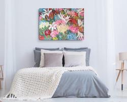 Floral wall art by Zindi