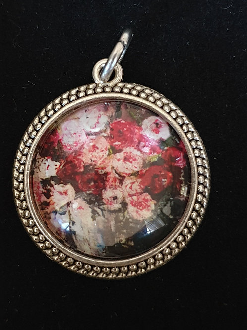Peonie painting by Zindi in Pendant