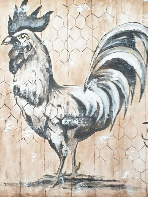 """""""Chicken 1"""" 60 x 60cm"""