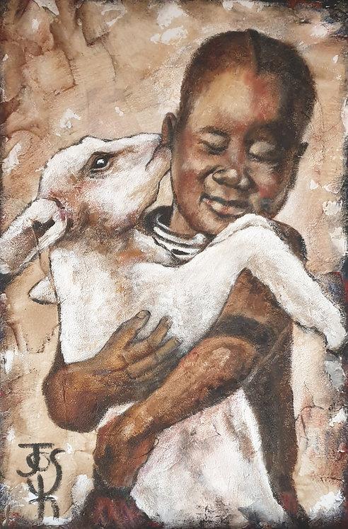 Lamb cuddle 3
