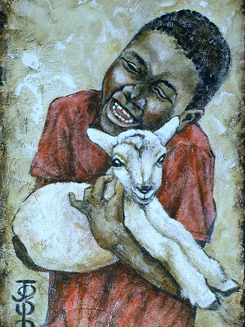 Lamb cuddles 1