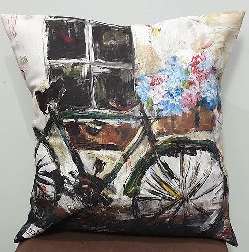 Bicycle art cushion