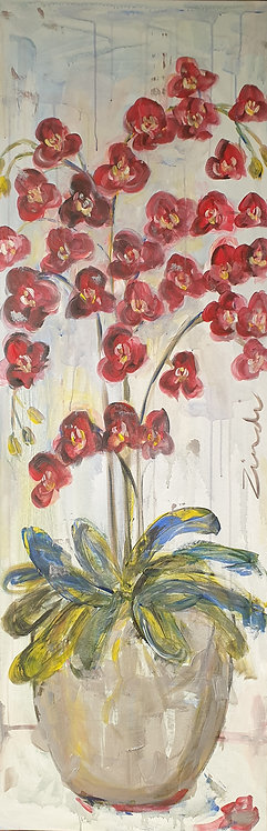 """""""Ruby Orchid"""" 150 x 50cm"""