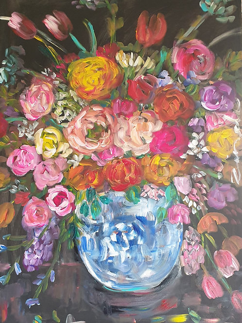 """Mixed bright bunch"""" 70 x 100cm"""