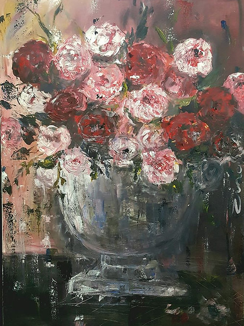 """""""Pink and red Peonies"""""""