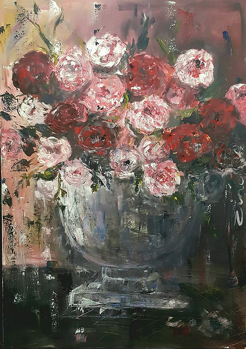 """Pink and red Peonies"""
