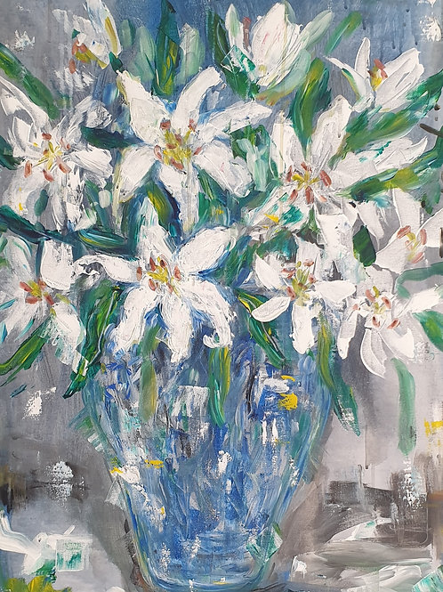 Lillies in blue