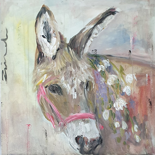 Donkey with Pink