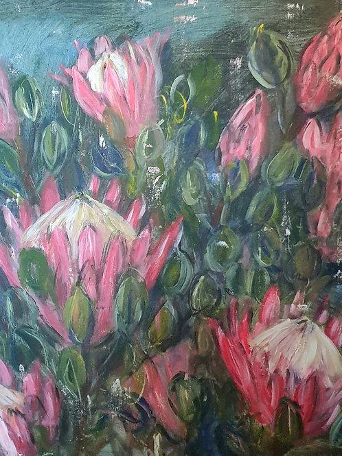 """Proteas 1"" 60 x 60cm"