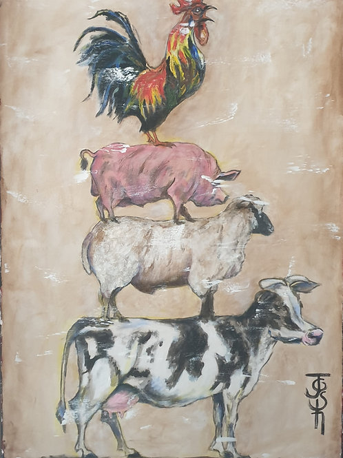"""Animal stack 4"" 60 x 84cm"
