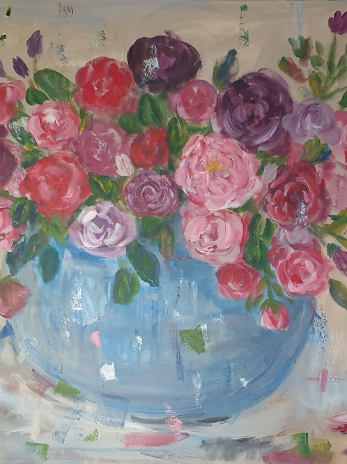 """Rose inspiration"" 150 x 90cm"