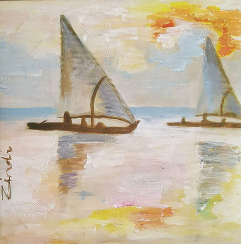 """Sunset sailing"""