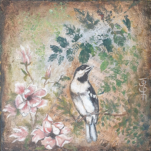 Bird and blossoms 1