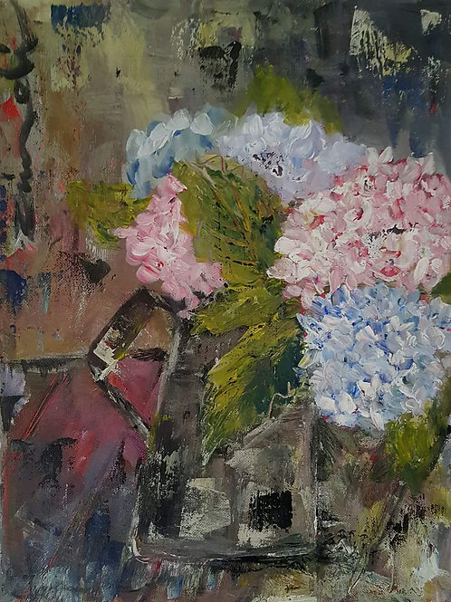 """""""Pink and blue christmas rose"""""""
