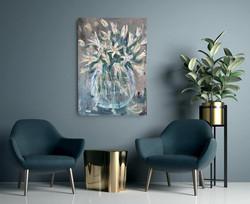 Lillies wall art by Zindi