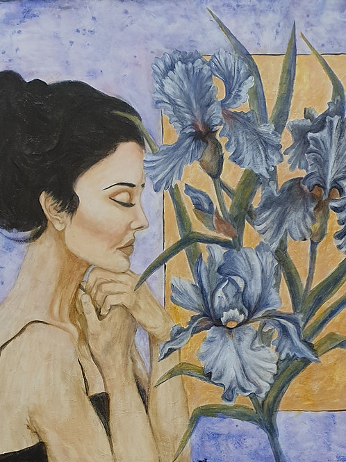 """Iris"" 80 x 80cm"