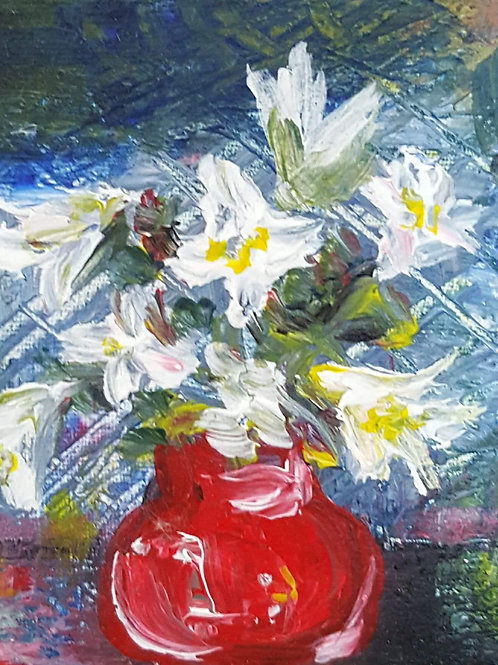 """""""Lillies in red pot"""""""