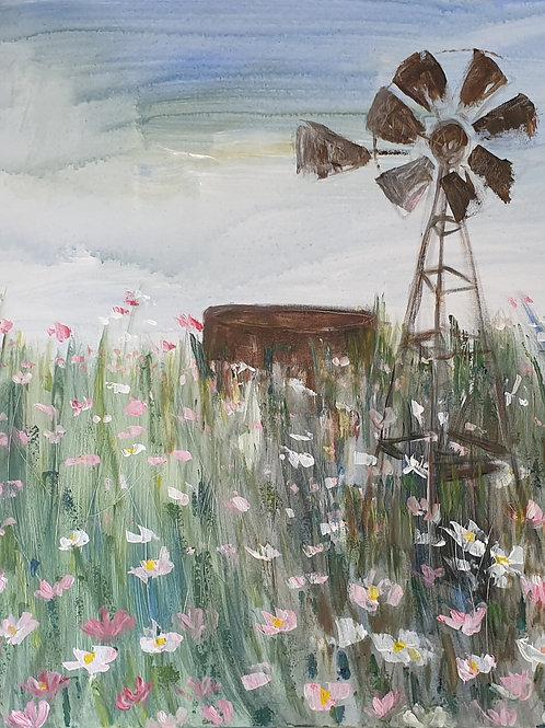 """Windmill in kosmos"""