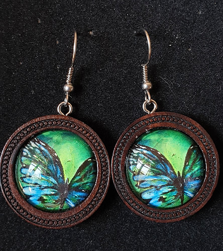 Butterfly art by Josh earrings