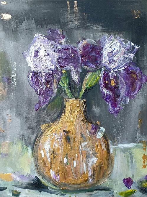 Iris on dark