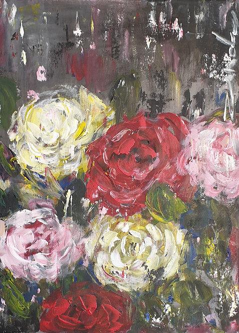 """Roses on dark"""
