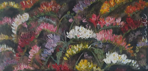 """Freesias on dark"""