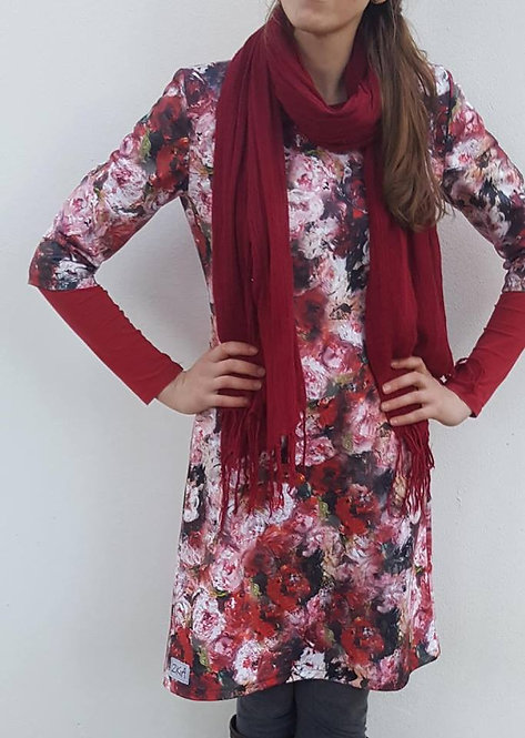 Red Peonie dress