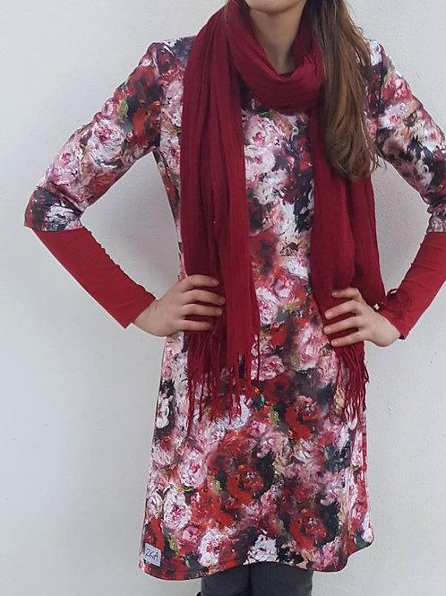 Red Peonie dress