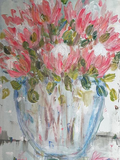 Proteas in glass
