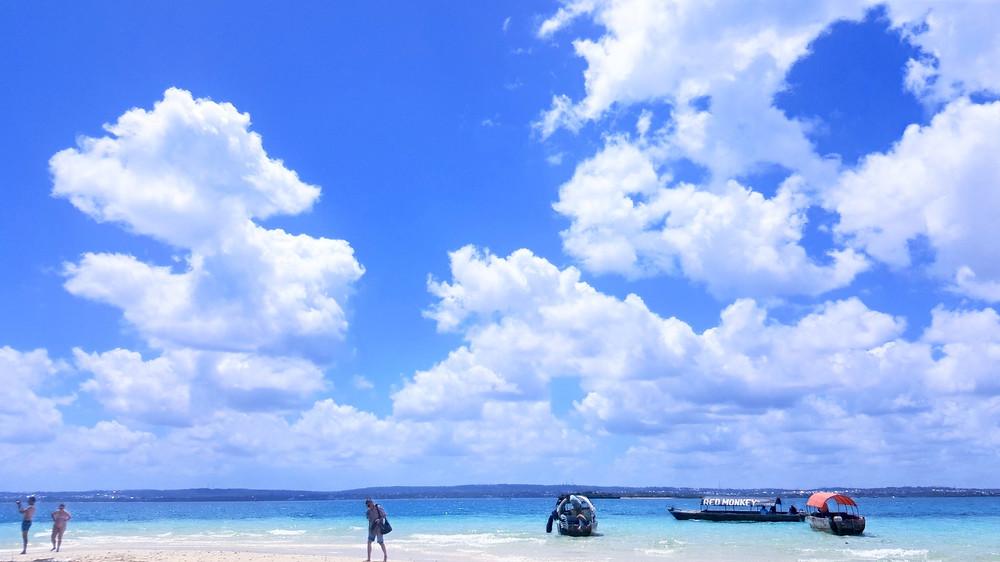 beautiful sky and waters on Changuu Island - Zanzibar
