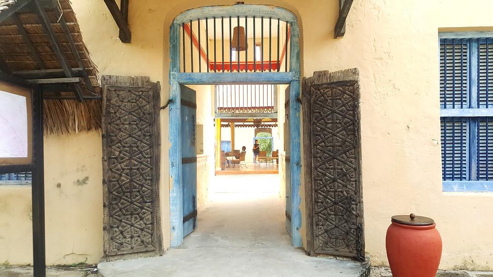 The entrance to the prison on Changuu Island - Zanzibar