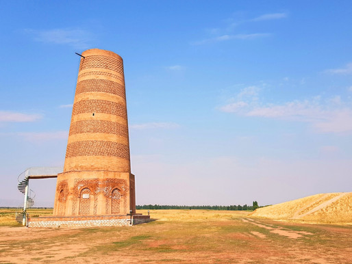 Burana Tower- the Minaret of the lost city of Balasagun in Kyrgyzstan