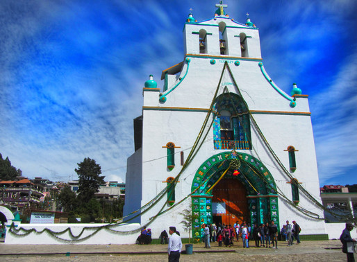 San Juan Chamula Church- where sacrifices take place and soul fragments maybe taken