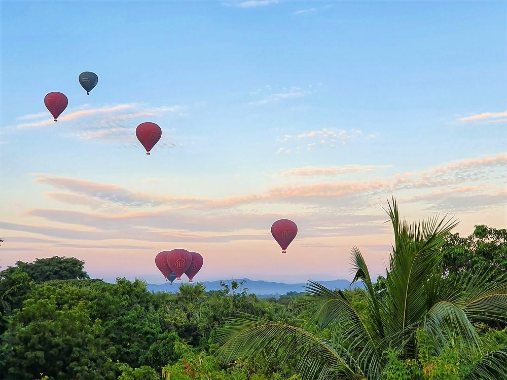 Hot Air Balloons over Bagan at sunrise