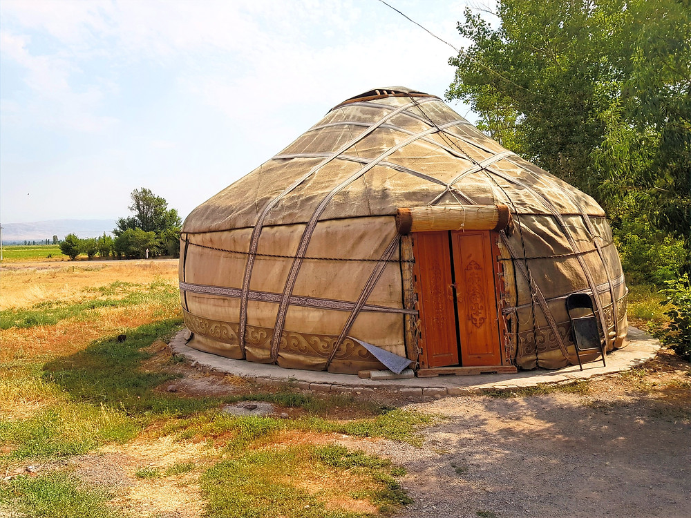 Gift shop in the style of a traditional Yurt in burana tower Kyrgyzstan