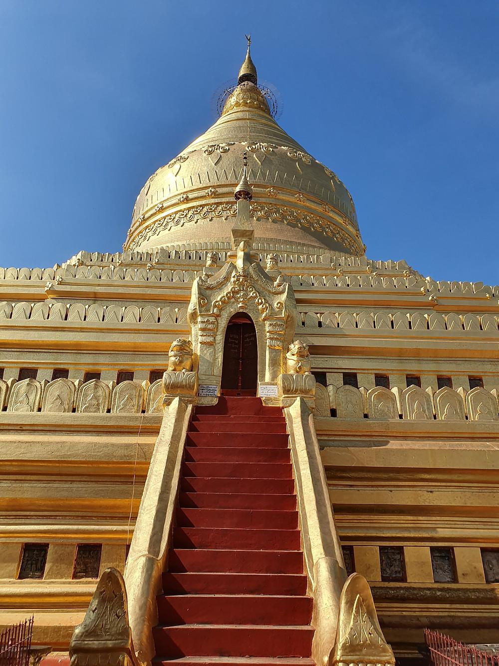The Golden Shwezigon Pagoda in Bagan