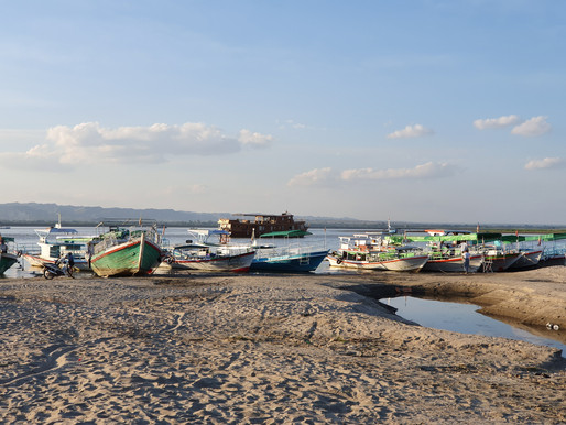 Cruising The Irrawaddy River at Sunset