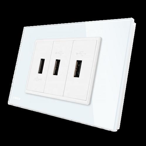 טעינת USB livolo איטלקי עבור קופסא גוויס 3 מקום