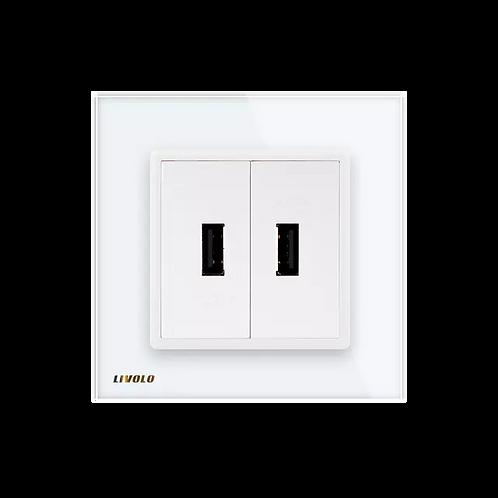 """טעינת USB livolo איטלקי עבור קופסא 55 מ""""מ"""