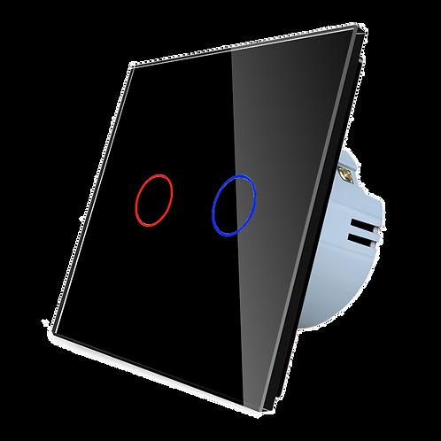 """מתג מעוצב שחור ווי-פי לקופסת חיווט 55 מ""""מ"""