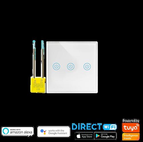 מתג wifi שלש תאורות לקופסא עגולה  55 ללא קו 0