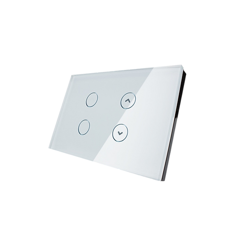 מפסק מגע נשלט RF ל-תריס ו2 נקודות תאורה תואם קופסא 3 מקום