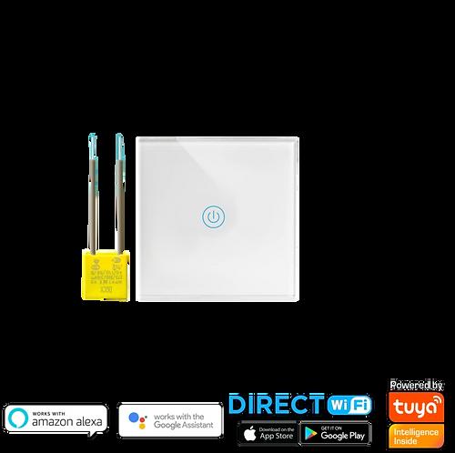 """מתג Wifi תאורה אחת קופסת חיווט עגולה 55 מ""""מ ללא קו 0"""