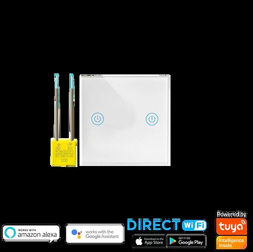 """מתג Wifi שני תאורות קופסת חיווט עגולה 55 מ""""מ ללא קו 0"""