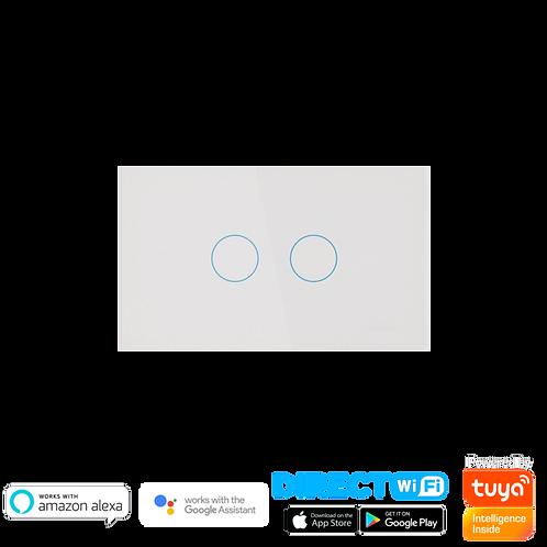 מתג Wifi שני תאורות קופסת חיווט גוויס 3 מקום.