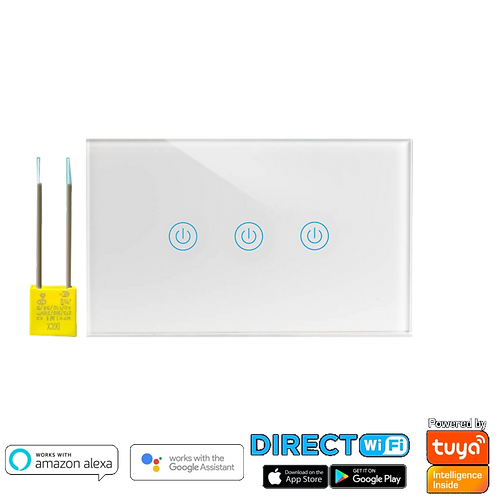 מתג wifi שלש תאורות קופסת חיווט גוויס 3 מקום ללא קו 0