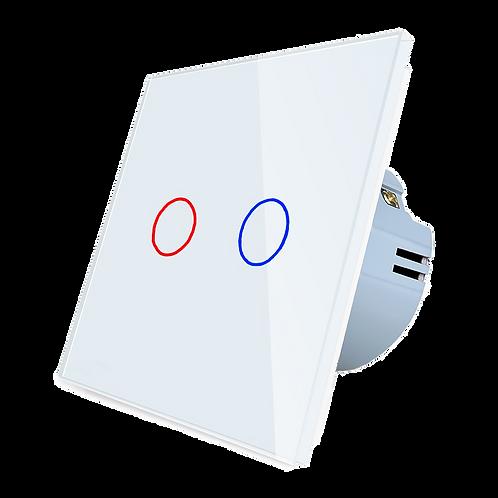 """מתג מעוצב לבן ווי-פי לקופסת חיווט 55 מ""""מ"""