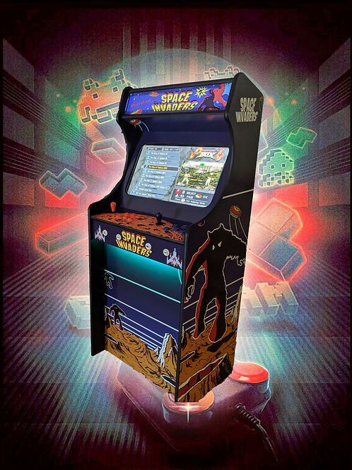 Space Invaders Themed Home Arcade Machine