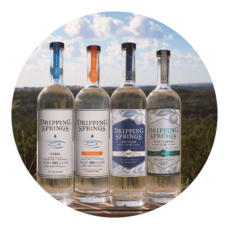 Dripping Springs Vodka and Gin