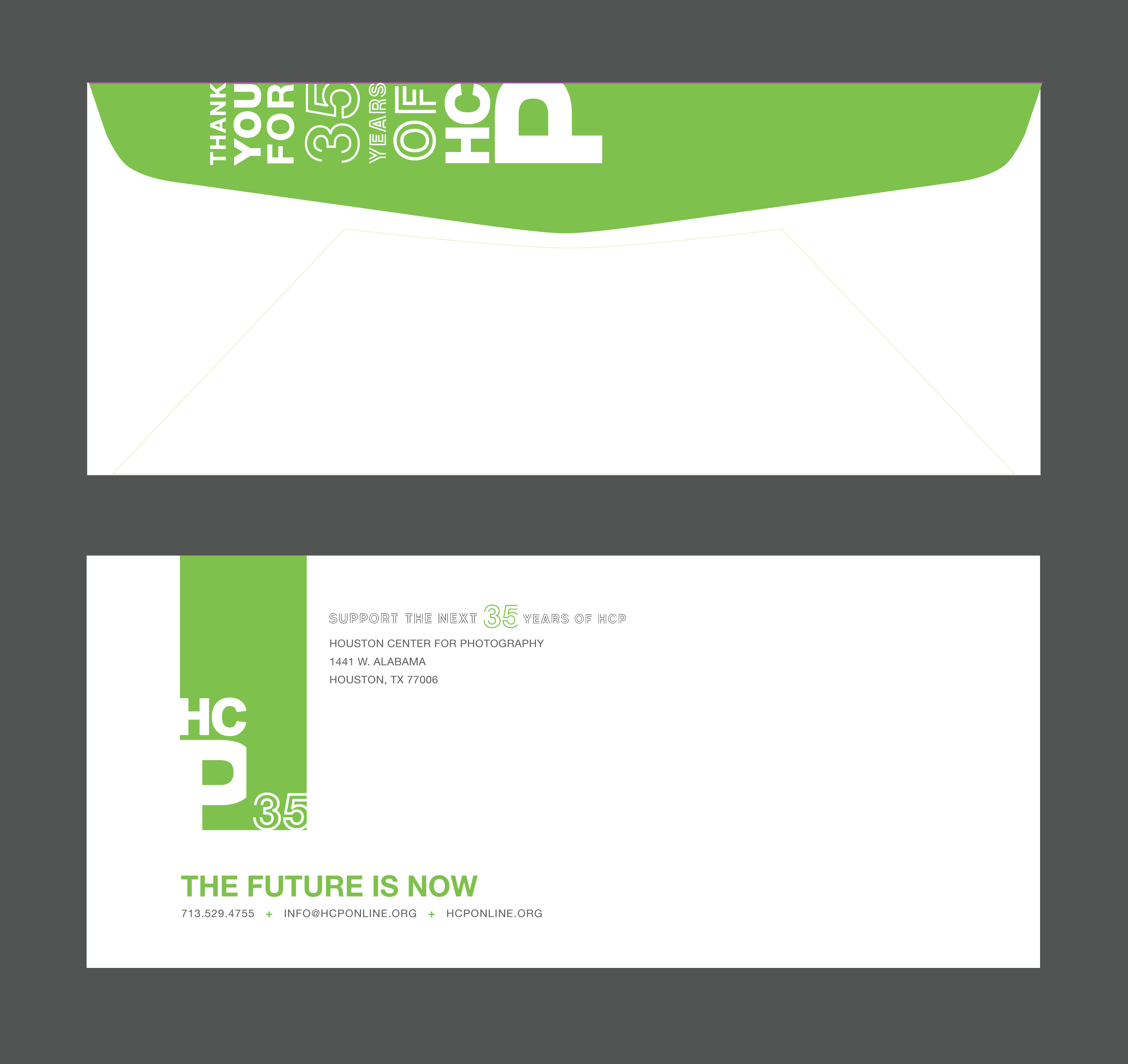 #10 envelope, front and back